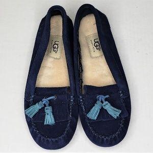 UGG Lizzy blue moccasins size 6